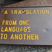 A Translation Art Print