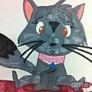 A Trouble Cat Art Print