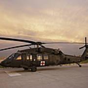 A Uh-60l Black Hawk Medevac Helicopter Art Print