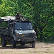A Unimog Vehicle Of The Belgian Army Art Print