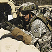 A U.s. Army Soldier Pulls Security Art Print