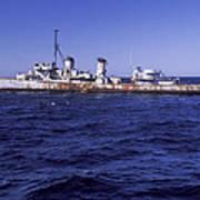 A U.s. Navy Deactivated Ship Sits Ready Art Print