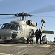 A U.s. Navy Sh-60b Seahawk Helicopter Art Print