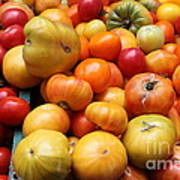 A Variety Of Fresh Tomatoes - 5d17811 Art Print by Wingsdomain Art and Photography