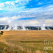 A View Of Geysers  Art Print