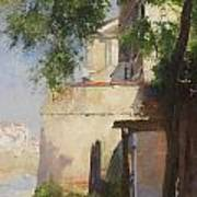 A View Of Venice From A Terrace Art Print