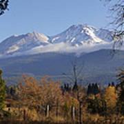 A View Toward Mt Shasta In Autumn Art Print