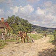 A Village Scene Art Print