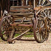 A Wagon And Wheels Art Print