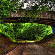 A Walk Along The Tracks Art Print