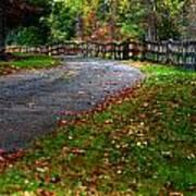 A Walk In An Autumn Afternoon Art Print