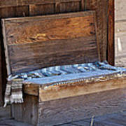 A Weathered Bench Art Print