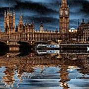A Wet Day In London Art Print
