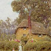 A Wiltshire Garden Art Print