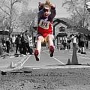 A Winning Jump Art Print