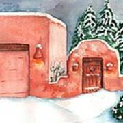A Winter Clad Santa Fe Art Print