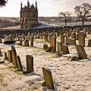 A Winter Graveyard Art Print