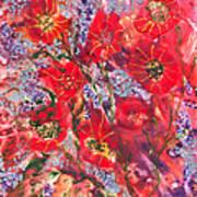 A Winter Healing Garden Art Print