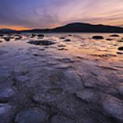 A Winter Sunset At Evenskjer In Troms Art Print by Arild Heitmann