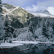 A Winter View Of The Merced River Art Print