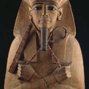 A Wooden Coffin Case Of The Pharaoh Art Print