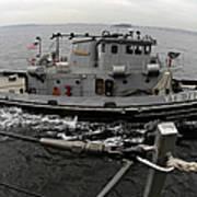 A Yokosuka Naval Tugboat Prepares Art Print