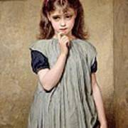 A Young Girl In The Classroom Art Print