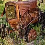 Abandonded Farm Tractor 1 Art Print