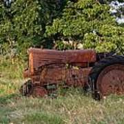 Abandonded Farm Tractor 2 Art Print
