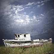Abandoned Fishing Boat In Washington State Art Print