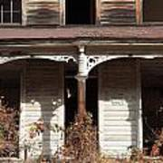 Abandoned House Facade Rusty Porch Roof Art Print