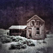 Abandoned House In Infrared Art Print