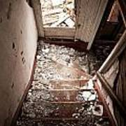 Abandoned Stairs 2 Art Print