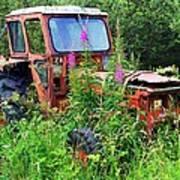 Abandoned Tractor Art Print