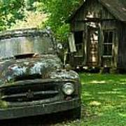 Abandoned Truck At Post Office Art Print