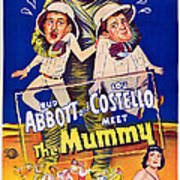 Abbott And Costello Meet The Mummy Art Print by Everett