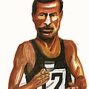 Abebe Bikila Art Print