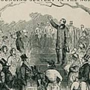 Abolitionist Wendell Phillips Speaking Art Print by Everett