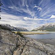 Abraham Lake Created By Bighorn Dam Art Print