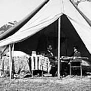 Abraham Lincoln Meeting With General Mcclellan - Antietam - October 3 1862 Art Print