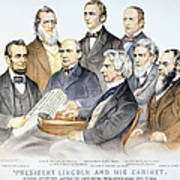 Abraham Lincolns Cabinet Art Print by Granger
