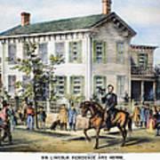 Abraham Lincolns Home Art Print