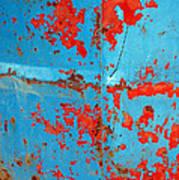 Abstrac Texture Of The Paint Peeling Iron Drum Art Print