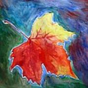 Abstract Autumn Art Print by Shakhenabat Kasana