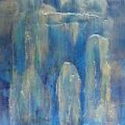 Abstract Blue Ice Art Print
