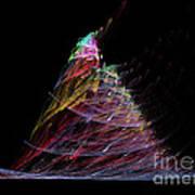 Abstract Christmas Tree 1 Art Print