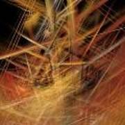 Abstract Crisscross Art Print