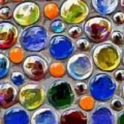 Abstract Digital Art Multi Colored Glass Balls Art Print