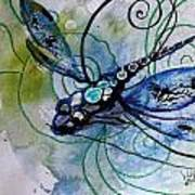 Abstract Dragonfly 10 Art Print