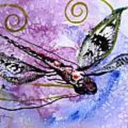 Abstract Dragonfly 6 Art Print
